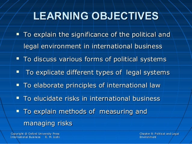 288 33 powerpoint slides chapter 8 political legal environment