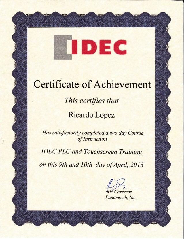 idec certification certifi