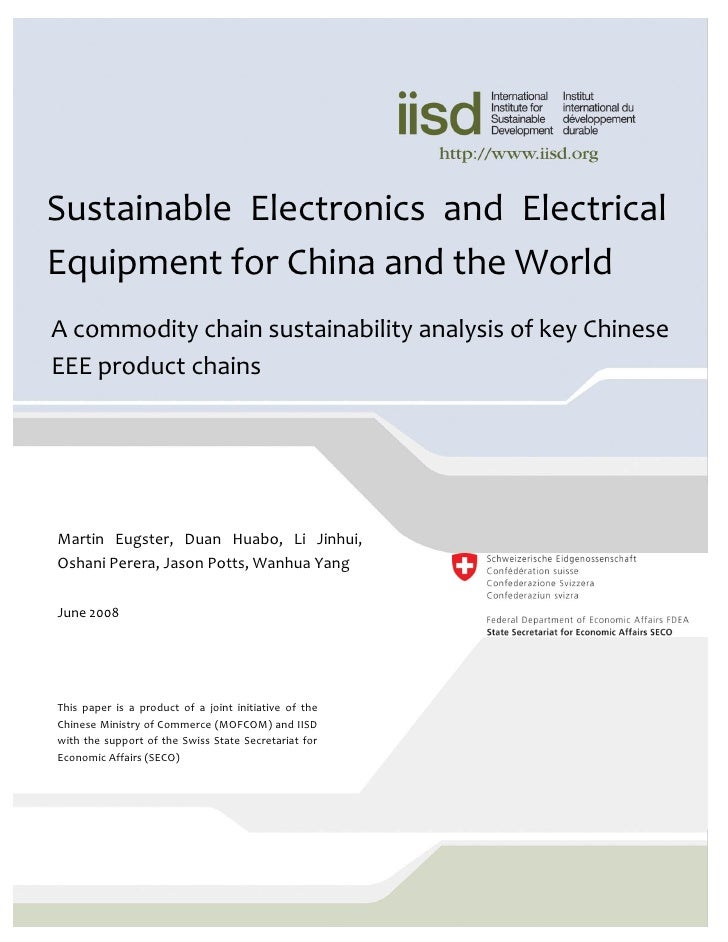 Sustainable Electronics And Electrical Equipment For China