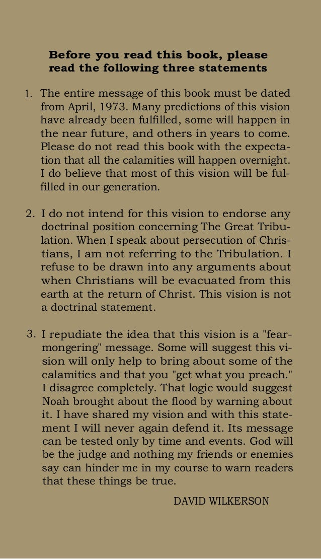 Book vision david the wilkerson