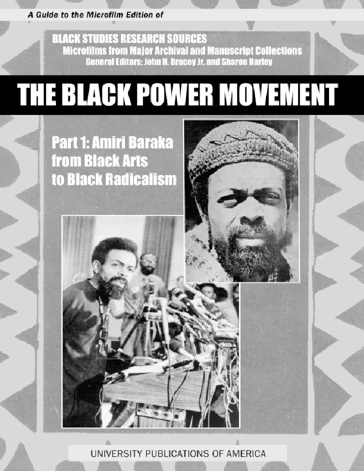 A Guide to the Microfilm Edition of            BLACK STUDIES RESEARCH SOURCES   Microfilms from Major Archival and Manuscr...