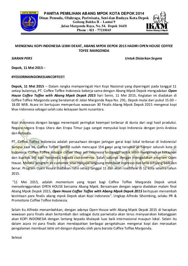 PANITIA PEMILIHAN ABANG MPOK KOTA DEPOK 2014 Dinas Pemuda, Olahraga, Pariwisata, Seni dan Budaya Kota Depok Gedung Baleka ...