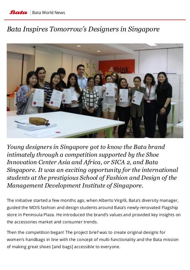 c3ab220fda Bata Inspires Tomorrow s Designers in Singapore   Bata World News
