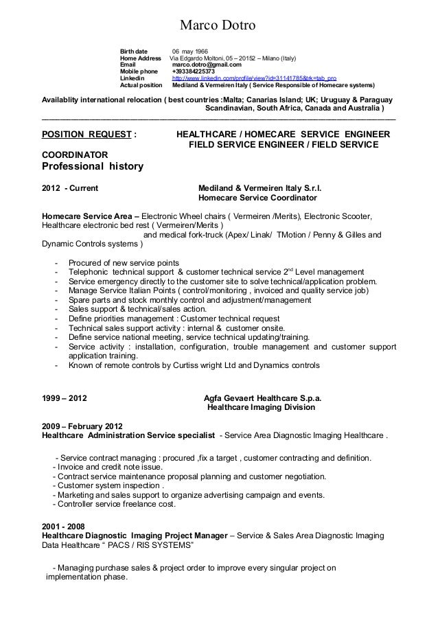mr  marco dotro resume english technical  u0026 sales 01 16