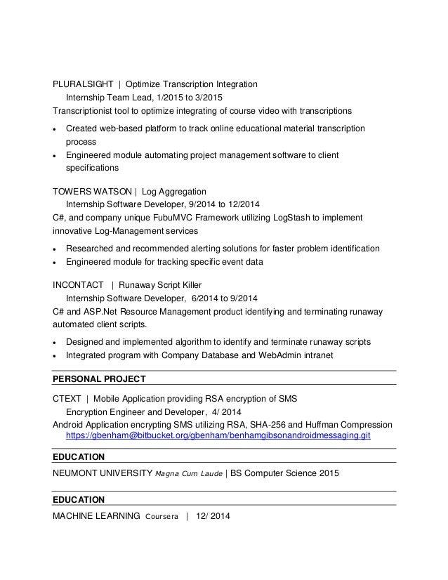 benham gibson resume