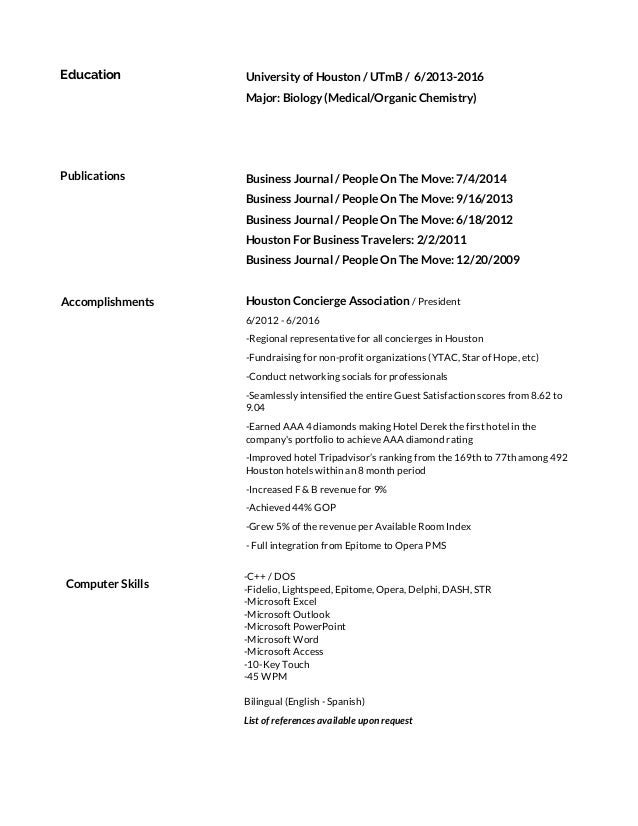 resume and publications