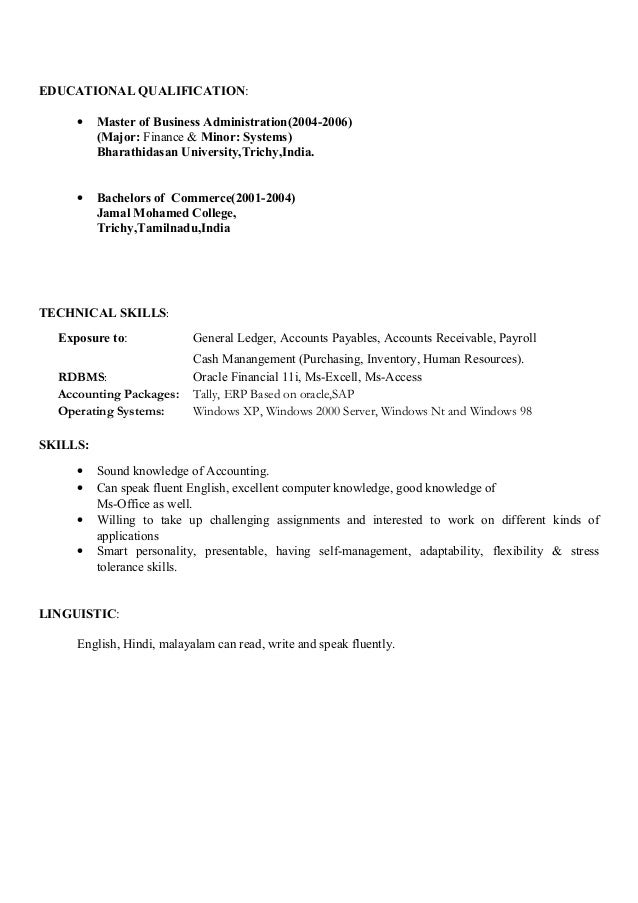 Resume for accountant