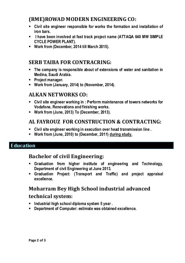 cv maged elwan civil engineer 4yrs exp  pdf