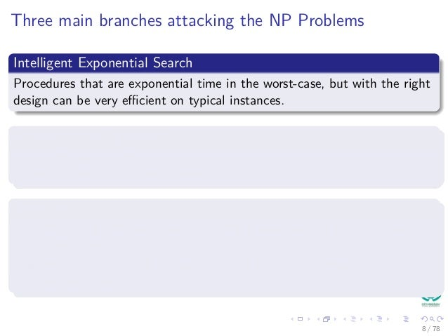 28 Dealing With The Np Poblems Exponential Search And
