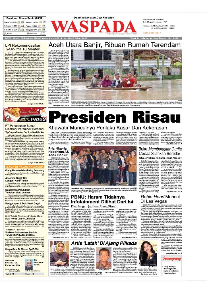 WASPADA  Senin  28 Desember 2009                                                                                          ...
