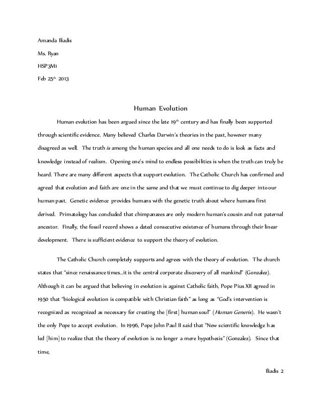 Human Evolution Essay Writing