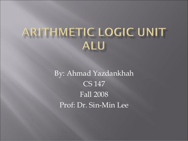By: Ahmad Yazdankhah CS 147 Fall 2008 Prof: Dr. Sin-Min Lee