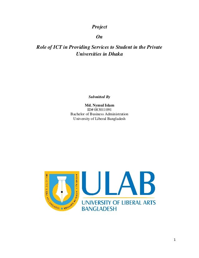 Role of ICT in Providing Services to Student in the Private Universit…