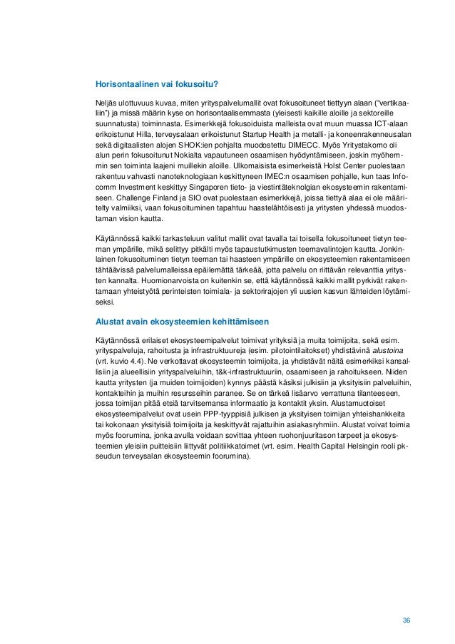 Finnish Prime Minister's Office, 2017: Innovation ecosystems as drivers of research–industry cooperation (Innovaatioekosys...