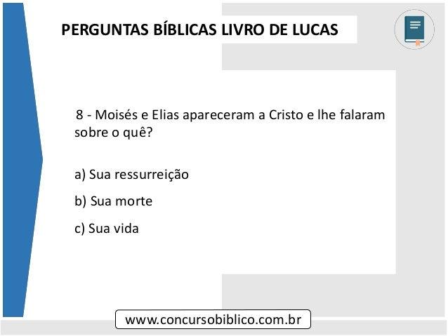 28 perguntas biblicas evangelho de lucas