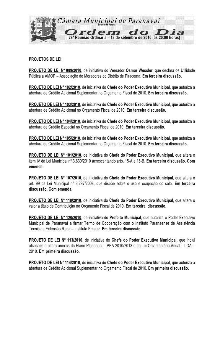 28ª reunião vereadores de Paranavaí