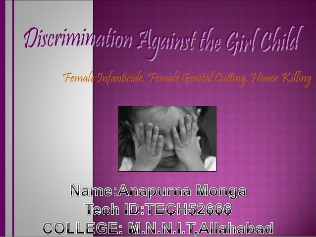essay on discrimination of girl child When i wrote my essay & speech on the distributed duty & right to support the constitution i made a marbury v madison argument #tcot #aip portfolio english essays freiheit essay about.