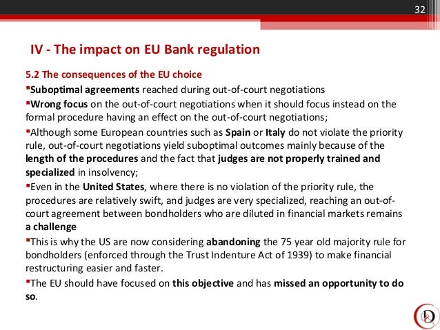 the scope and influence of the non eu insolvency proceedings in the eu The regulation's scope should extend to proceedings which are triggered by situations in which the debtor faces non-financial difficulties, provided however, that these difficulties give rise to a real and serious threat to the debtor's actual or future ability.