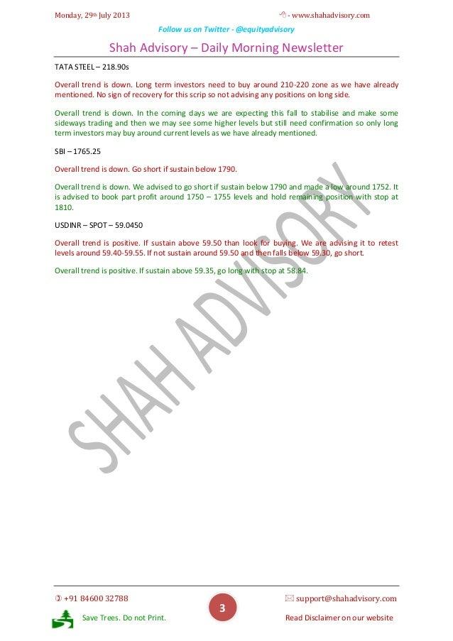 Daily Newsletter - 29-07-2013 Slide 3