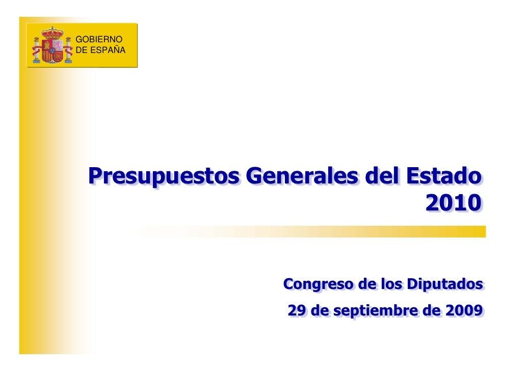 GOBIERNO GOBIERNO DE ESPAÑA DE ESPAÑA       Presupuestos Generales del Estado   Presupuestos Generales del Estado         ...