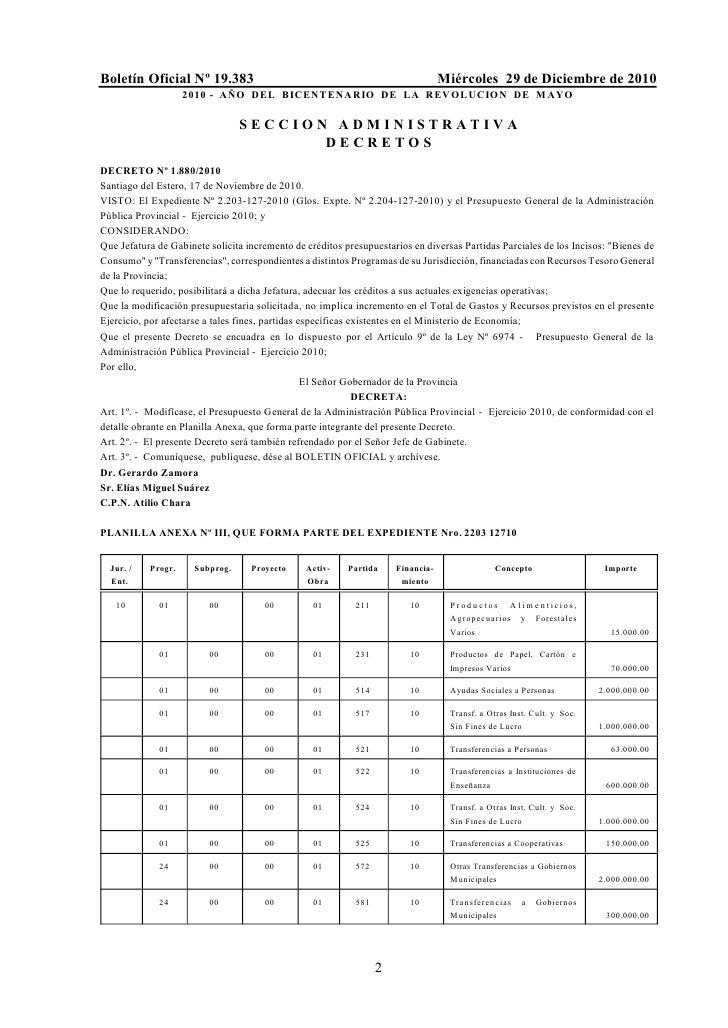Boletín Oficial Nº 19.383                                                        Miércoles 29 de Diciembre de 2010        ...