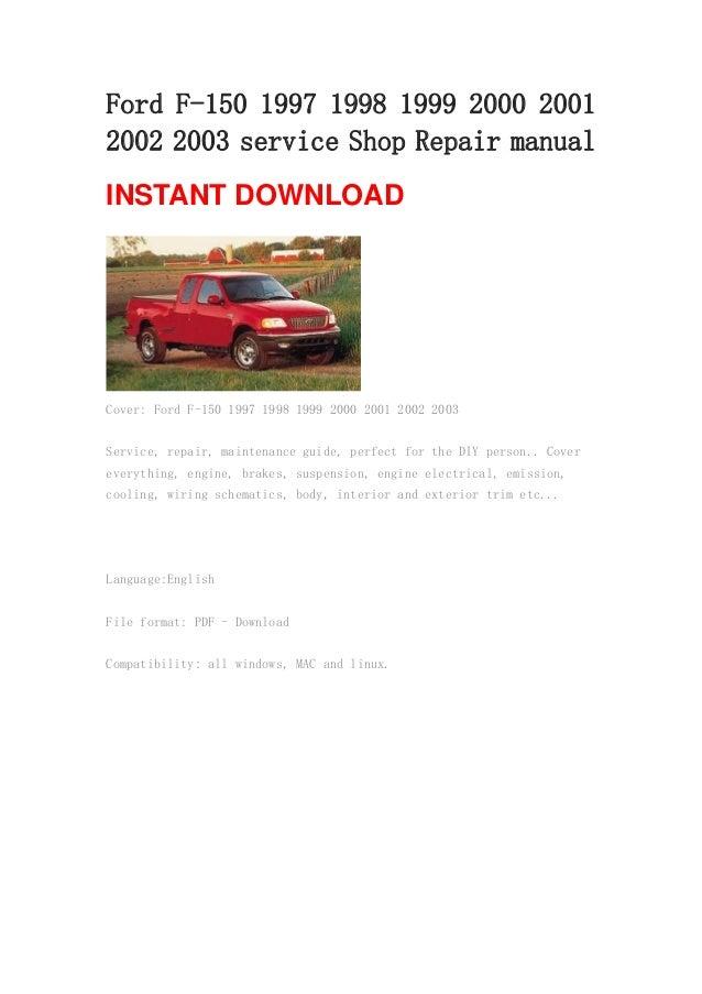 ford f 150 1997 1998 1999 2000 2001 2002 2003 repair manual rh slideshare net 1996 Ford F150 1997 ford f150 repair manual online