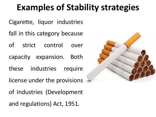 Stability strategies corporate level strategies - Strategic