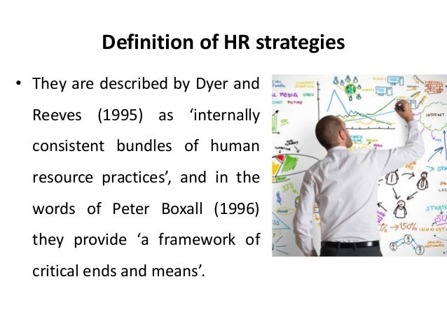 meaning and types of hr strategies management essay Introduction according to the definition provided by the academia education web portal, human resource management has replaced personnel management over the time period and it consist of various strategies, policies and processes.