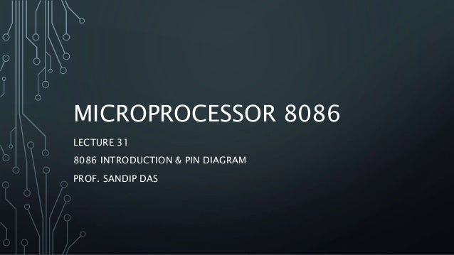 29  8086 Microprocessor Pin Diagram