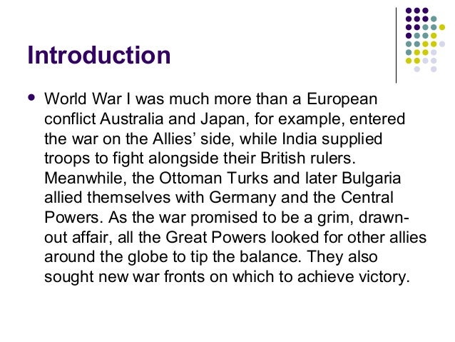 an analysis of the causes of world war ii a global conflict A multi-level class analysis of the causes of the first world  causes of world war ii  also known as the first world war or the great war, was a global.