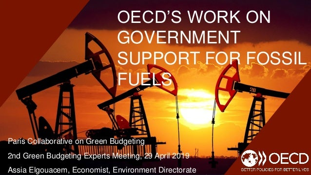 OECD'S WORK ON GOVERNMENT SUPPORT FOR FOSSIL FUELS Paris Collaborative on Green Budgeting 2nd Green Budgeting Experts Meet...