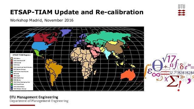 ETSAP-TIAM Update and Re-calibration Workshop Madrid, November 2016 ETSAP-TIAM Regions AFR Africa AUS Australia & NZ CAN C...