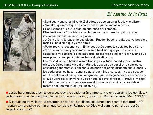 DOMINGO XXIX - Tiempo Ordinario                                                Hacerse servidor de todos                  ...