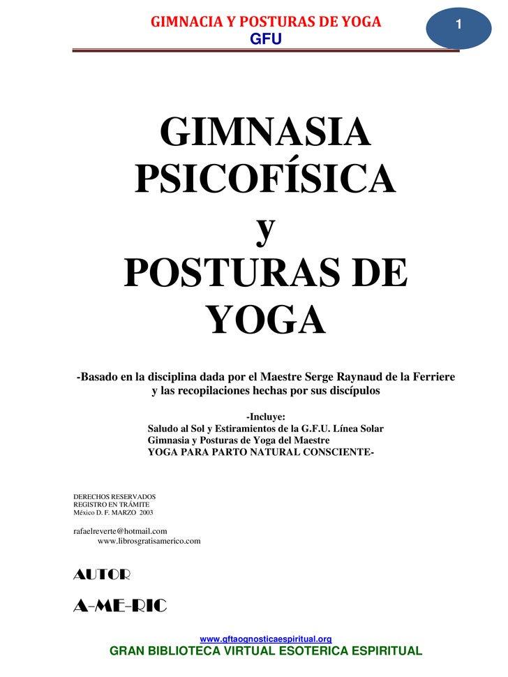 GIMNACIA Y POSTURAS DE YOGA                             1                                 GFU              GIMNASIA       ...