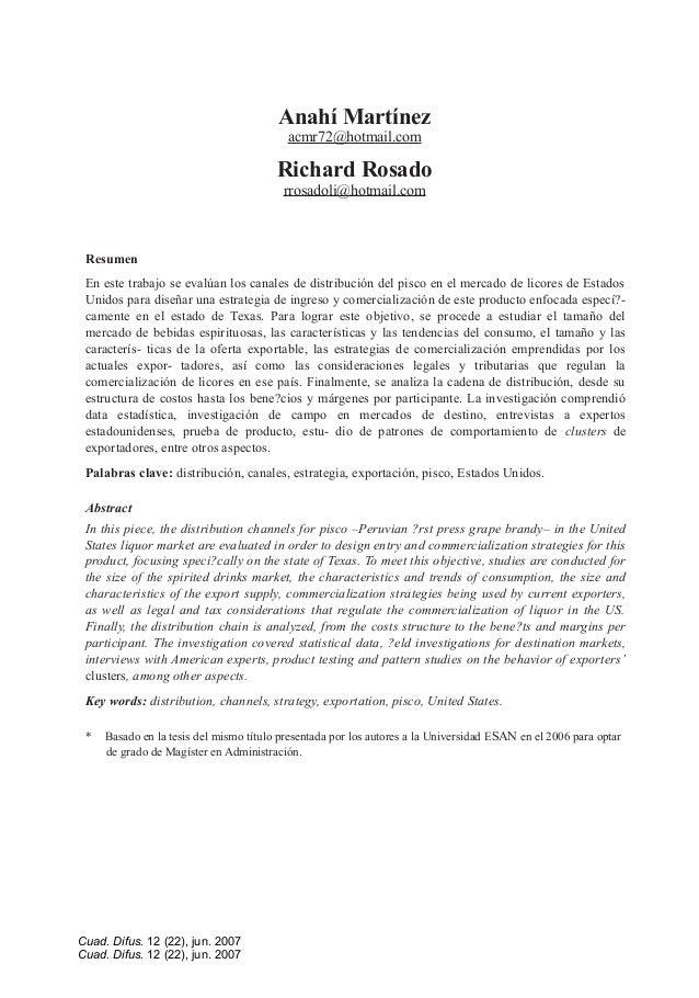 Anahí Martínez acmr72@hotmail.com Richard Rosado rrosadoli@hotmail.com Resumen En este trabajo se evalúan los canales de d...