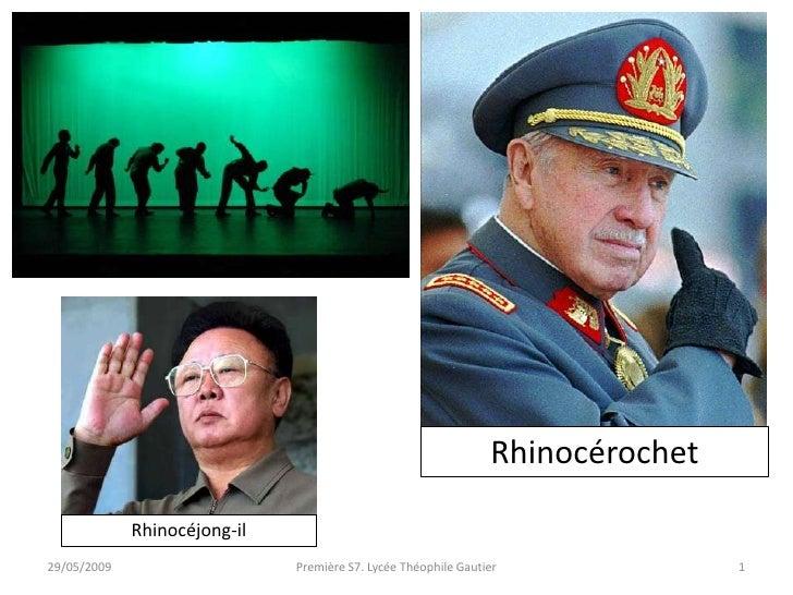 Rhinocérochet               Rhinocéjong-il 29/05/2009                    Première S7. Lycée Théophile Gautier             ...