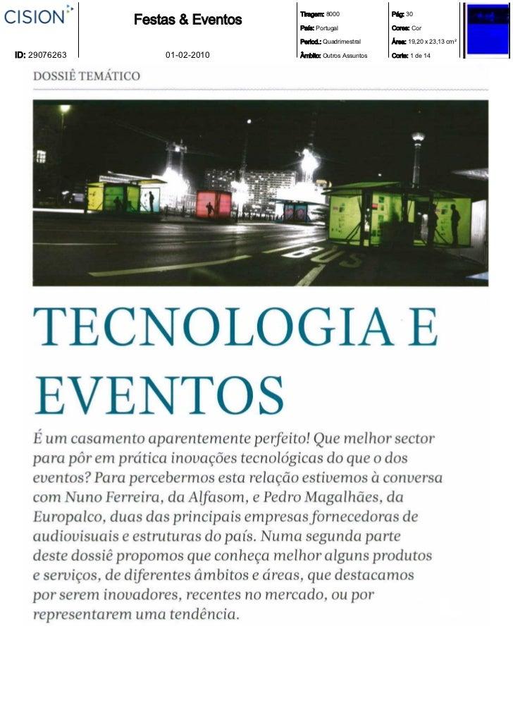 Tiragem: 8000             Pág: 30               Festas & Eventos   País: Portugal            Cores: Cor                   ...