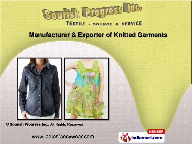 Manufacturer & Exporter of Knitted Garments