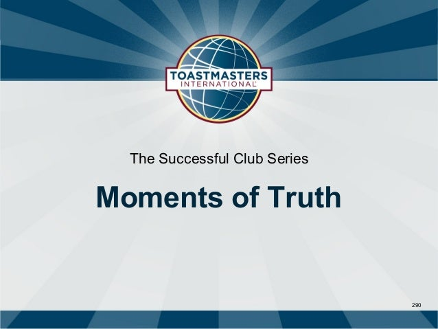 The Successful Club SeriesMoments of Truth                               290