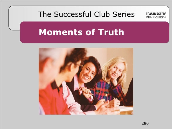 Moments of Truth The Successful Club Series 290
