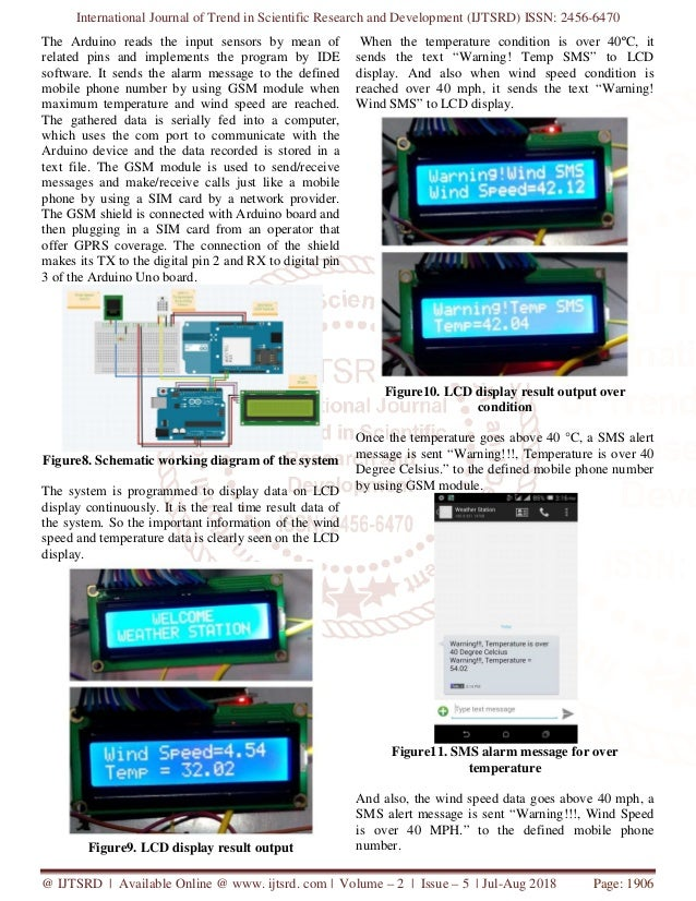SMS Alarm System for Weather Station using Arduino and GSM