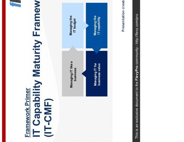 It Capability Maturity Framework It Cmf