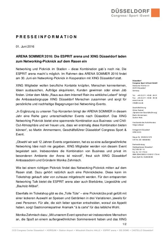 1/2 Düsseldorf Congress Sport & Event GmbH Stockumer Kirchstr. 61 40474 Düsseldorf Germany Tel.: +49 (0) 211 / 45 60 - 84 ...