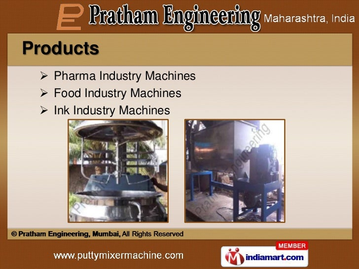 Products  Pharma Industry Machines  Food Industry Machines  Ink Industry Machines