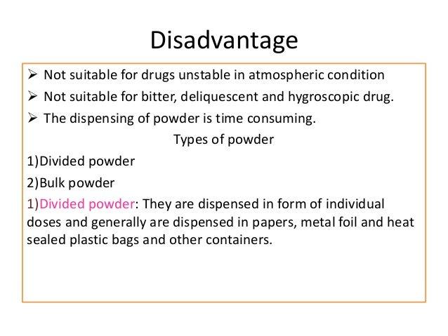 Drug Dosage Forms