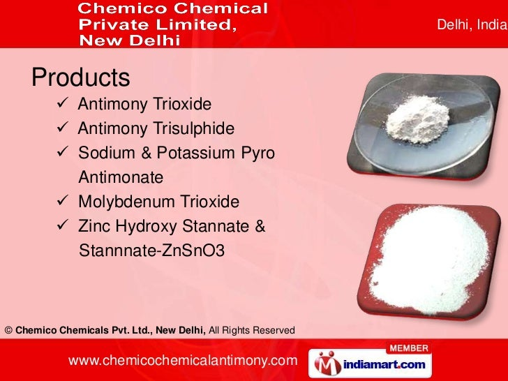 Antimony Trioxide By Chemico Chemicals Private Limited New