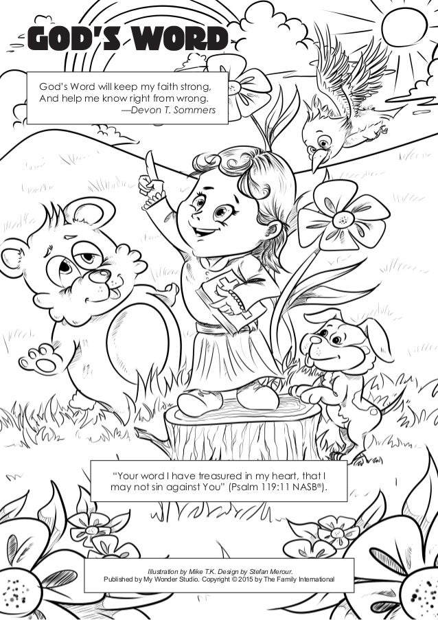 Coloring page: God's word