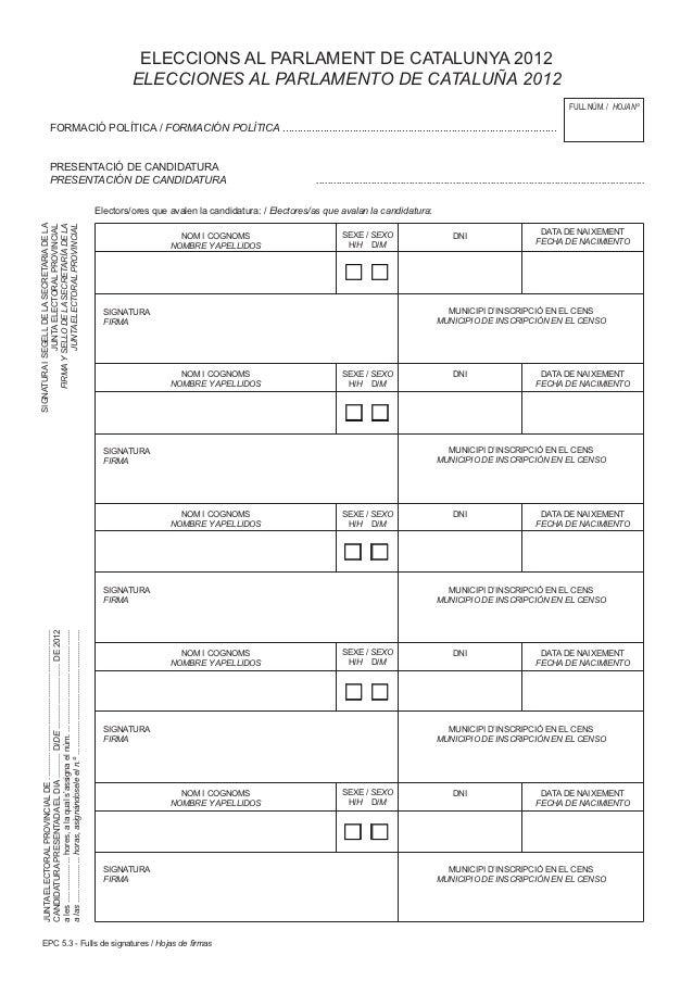 ELECCIONS AL PARLAMENT DE CATALUNYA 2012                                                                                  ...