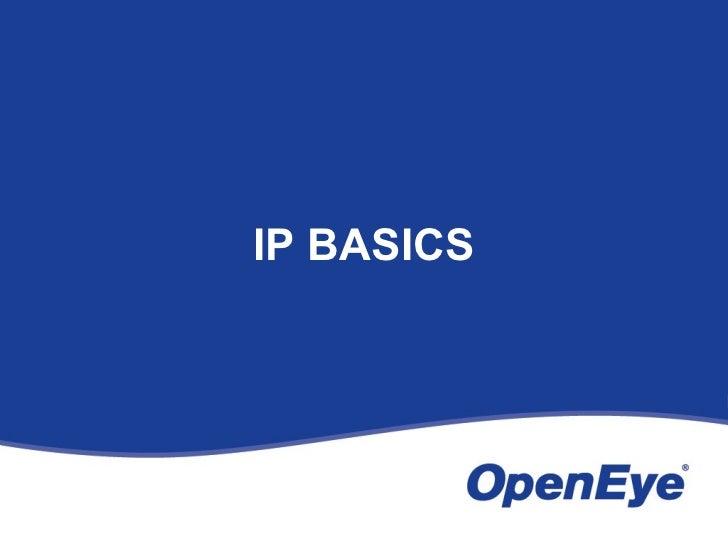 OpenEye IP Video Basics Slide 3