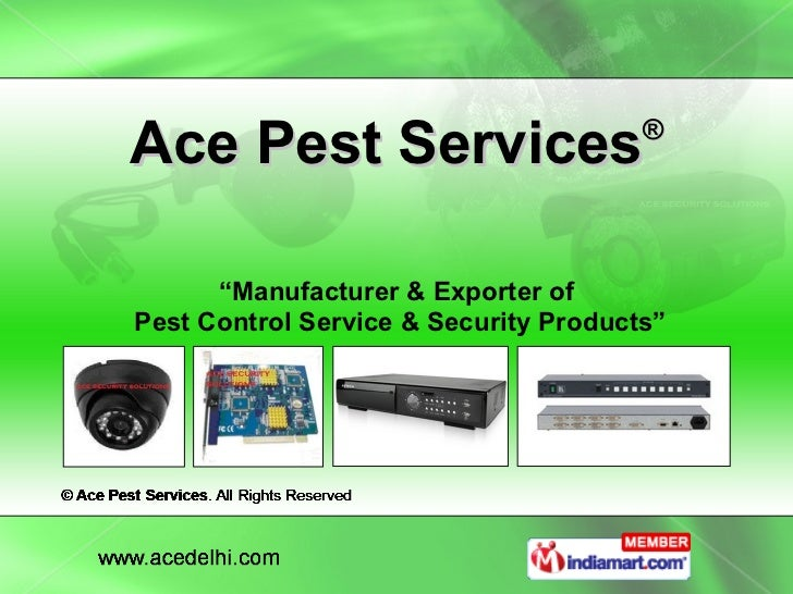 """Ace Pest Services ® """" Manufacturer & Exporter of  Pest Control Service & Security Products"""""""